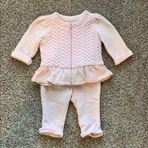 Baby Girl Zip Up Sweat Suit